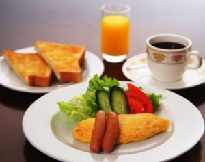 ペンション 朝食一例1