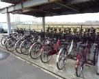白根中央自動車学校のレンタサイクルは約40台。お買い物や周辺散策にご利用いただけます。