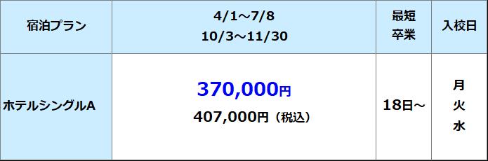 鳥取県東部自動車学校 準中型料金表