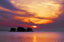 夕日がキレイな「宍道湖」