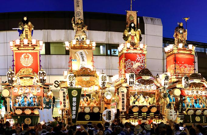 関東一の祇園 熊谷うちわ祭り